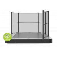 Inbouw trampoline met een half net