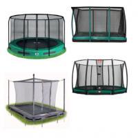 Inground trampoline met net