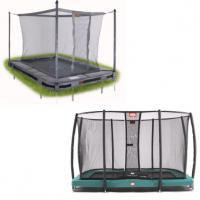 Alle rechthoekige inbouw trampolines met net