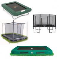 Alle kleine rechthoekige trampolines