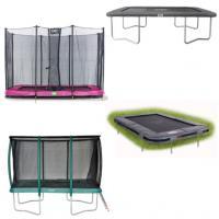 Alle middelmaat rechthoekige trampolines tot 330 cm