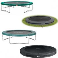 maten ronde inbouw en opbouw trampolines zonder net