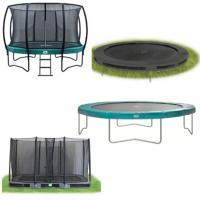 Alle soorten trampolines per maat