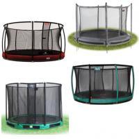 Alle ronde inbouw trampolines met net