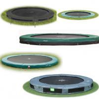 ronde inbouw trampolines zonder net