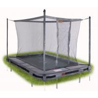 Rechthoekige inbouw trampoline met net Klein