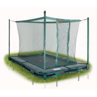 Rechthoekige Avyna inground trampoline met net