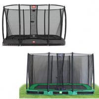 Grote rechthoekige inbouw trampolines met net