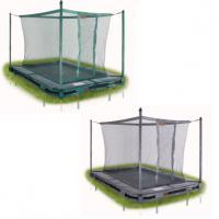Kleine rechthoekige inbouw trampolines met net