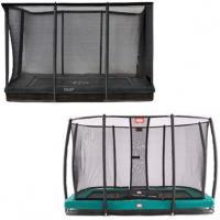 Middel rechthoekige inbouw trampolines met net