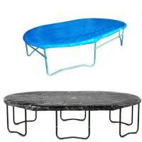 Ovale hoezen opbouw trampoline