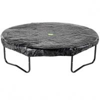 Grijze/ zwarte opbouw trampoline hoes 457cm