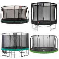 Alle maten ronde trampolines met net