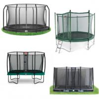 Alle trampolines met net