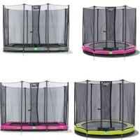 Exit Twist inground trampoline met net