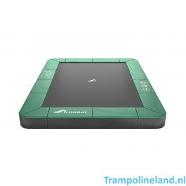 Akrobat Orbit flat to the ground trampoline rechthoek 335x244cm Groen