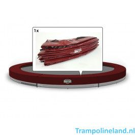 Berg Inground Elite trampoline rand 380 cm Rood