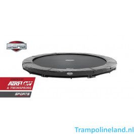 BERG Inground Elite trampoline 380 cm grijs