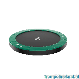 Akrobat Orbit flat to the ground trampoline 365cm Groen