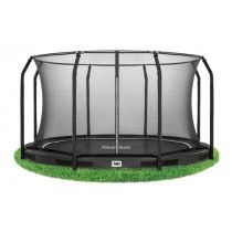 Salta Excellent inground trampoline 366cm met net Zwart