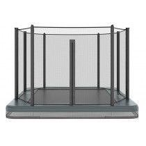 Akrobat Orbit inground trampoline 335x244cm met net Antraciet