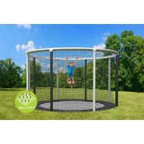 Akrobat Trampoline Gallus Flat to the Ground 360 cm