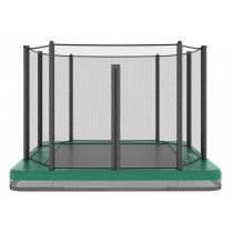 Akrobat Orbit inground trampoline 335x244cm met net Groen