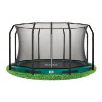 Salta Excellent inground trampoline 427cm met net Groen