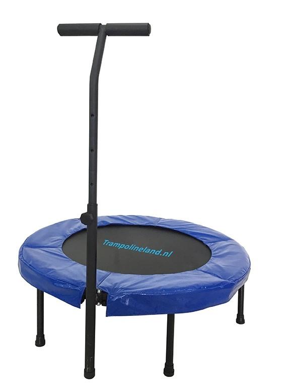 Fitness trampoline met beugel