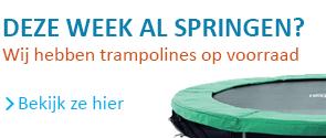 trampolines op voorraad